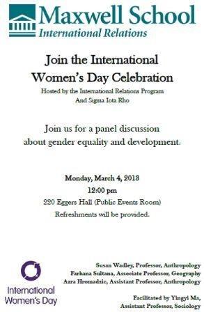 Notice of International Women's Day Celebration